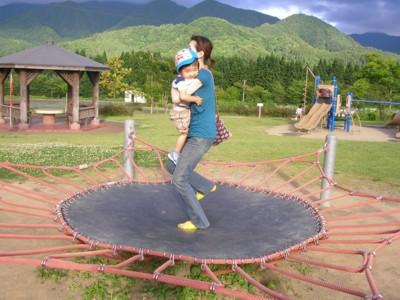 公園にて長男と私